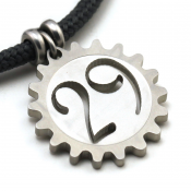 29er Pendant | Stainless Steel | 3mm Polycord