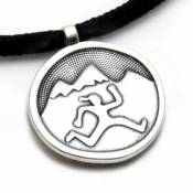 Mountain Run Gal Pendant | Sterling Silver | 2mm Polycord
