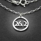26.2 Charm Necklace | Sterling Silver | 18 inch Silver Chain