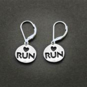 Love 2 Run Earrings | Sterling Silver