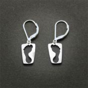 Footprint Earrings | Sterling Silver