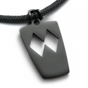 Double Diamond Pendant | Black Stainless Steel | 3mm Polycord