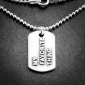My Favorite Thing Mini Dog Tag | Sterling Silver | 1.5mm Ball Chain