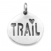 Trail Love Charm | Sterling Silver