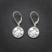 Globe Earrings | Sterling Silver