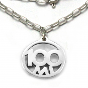 100 Mile Necklace | Sterling Silver | 18 inch Silver Chain