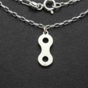 Chain Link Necklace | Sterling Silver | 18 inch Silver Chain