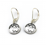 Bear Happy Earrings | Sterling Silver