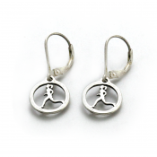 Running Gal Earrings | Sterling Silver