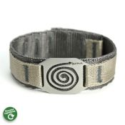 Spiral Wristband Large | Stainless Steel | 25mm Poly Strap