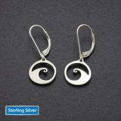 Wave Earrings | Sterling Silver
