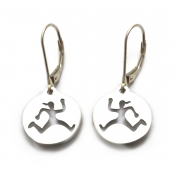 Run Trail Gal Earrings | Stainless Steel