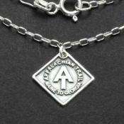 AT Charm Necklace | Sterling Silver | 18 inch Silver Chain