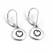 Heart Love To Run Disc Earrings | Sterling Silver