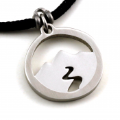 Mountain Spirit Pendant | Stainless Steel | 2mm Polycord