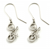 Road Bike Earrings | Stainless Steel
