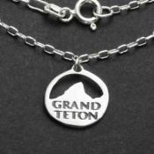 Grand Teton Necklace | Sterling Silver | 18 inch Silver Chain