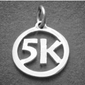 5K Charm | Sterling Silver