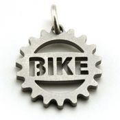 Bike Cog Charm | Stainless Steel