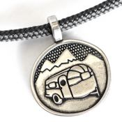 Airstream Life For Me |  White Bronze | 3mm Polycord