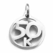 50K Charm | Sterling Silver