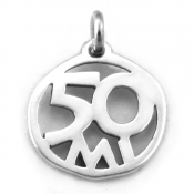 50 Mile Charm   Sterling Silver