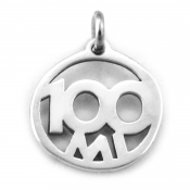 100 Mile Charm   Sterling Silver