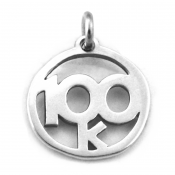 100K Charm | Sterling Silver