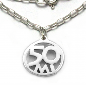 50 Mile Necklace   Sterling Silver   18 inch Silver Chain