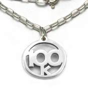 100k Necklace   Sterling Silver   18 inch Silver Chain