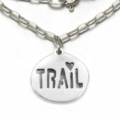 Trail Love Necklace | Sterling Silver | 18 inch Silver Chain