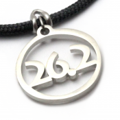 26.2 Pendant   Stainless Steel   3mm Polycord