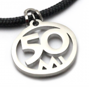 50 Mile Pendant   Stainless Steel   3mm Polycord