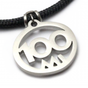 100 Mile Pendant   Stainless Steel   3mm Polycord