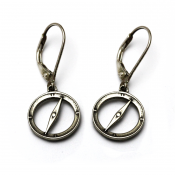 Compass Earrings | Sterling Silver