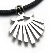 Camino Trail Marker Pendant | Stainless Steel | 3mm Polycord