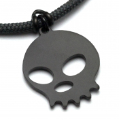 Hammerhead Pendant | Black Stainless Steel | 3mm Polycord