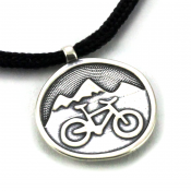 Mountain Ride Pendant | Sterling Silver | 2mm Polycord
