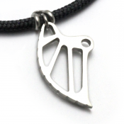 Climbing Cam Pendant | Stainless Steel | 3mm Polycord