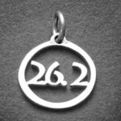 26.2 Charm   Sterling Silver