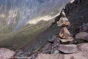 Stacked stones - or Cairn - in nature