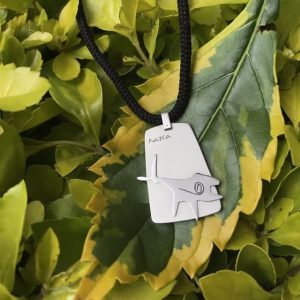 Stainless steel Nazca Humpback Whale pendant