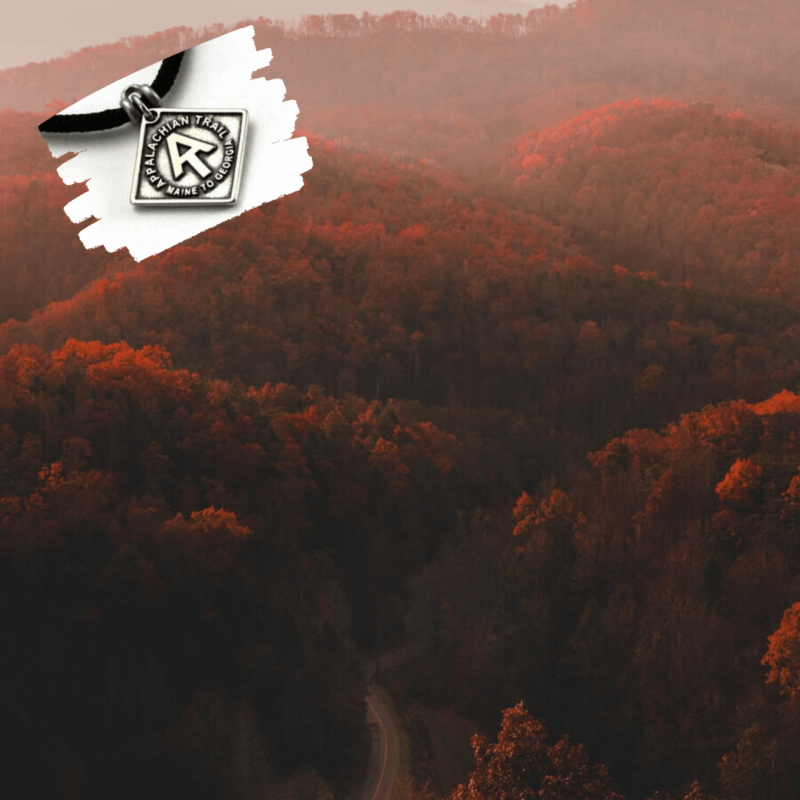 fall smoky mountains with featured appalachian trail pendant