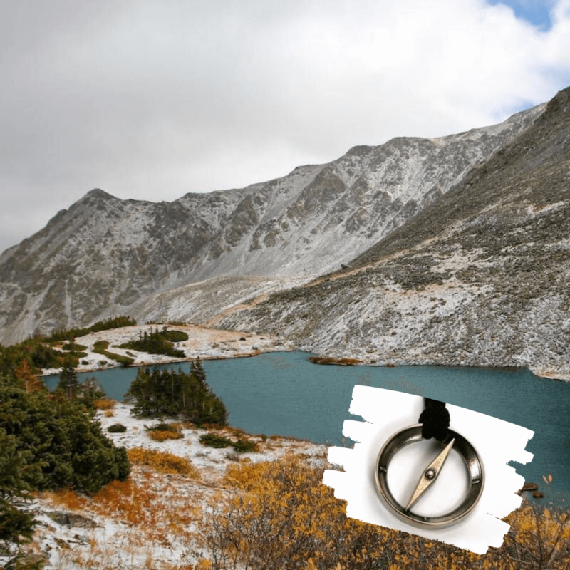 colorado lake and featured compass pendant